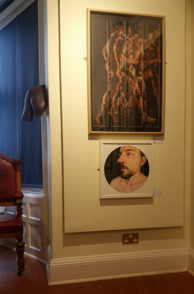 Two of my pieces at the Haworth Gallery in Accrington.