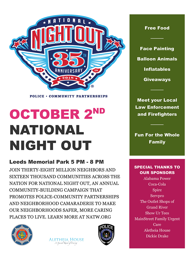 National Night Out 2018  Leeds Area Chamber of Commerce