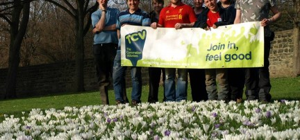 Volunteers at Kirkstall Abbey