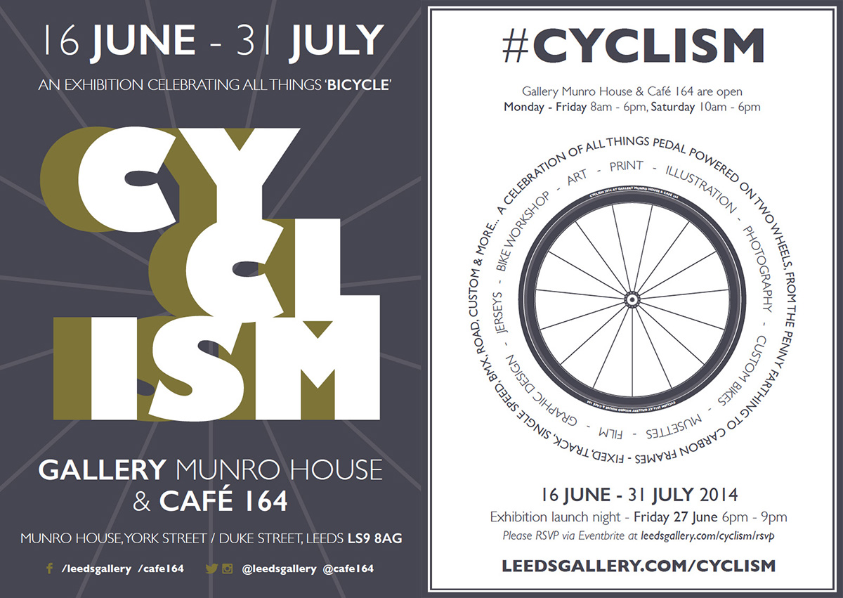 Cyclism, The Gallery at Munro House, A5 Flyer