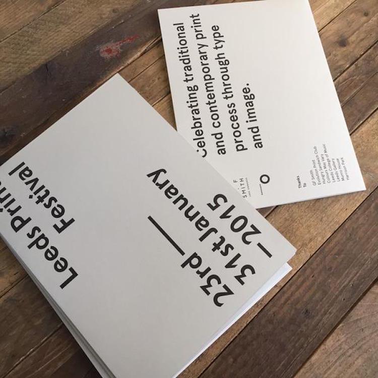 Leeds Print Festival - Invitation, 2015