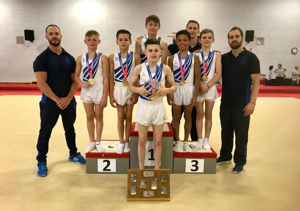 Leeds – Men's Junior British Gymnastics Team Champions for 3rd year running