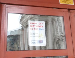 Happy Birthday to our NHS posters on the doors of LGI