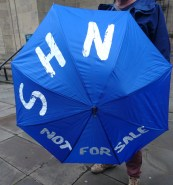 NHS not for sale umbrella