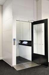 Lift showroom ECO large door open