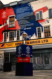 Cricket World Cup Trophy and Brick Lane Artwork
