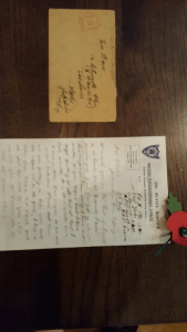 Soldiers letter