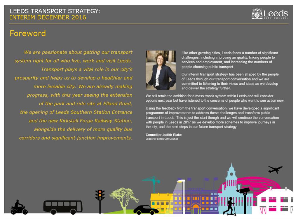 Leeds Transport Strategy