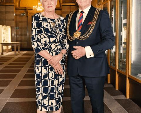 Lord Mayor Councillor Graham Latty and Councillor Pat Latty
