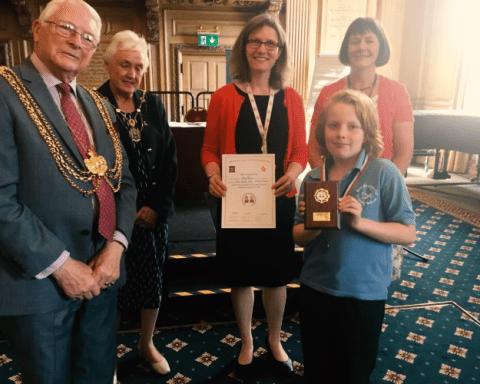 Best speaker winner, schools debating competition 2018