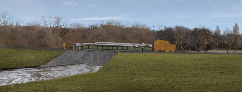 How the new flood control structure at Calverley could look
