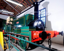 Leeds locomotive Aldwyth, twinned with another Manning Wardle locomotive Nellie which was built for the Sierra Leone Government Railway in 1915.