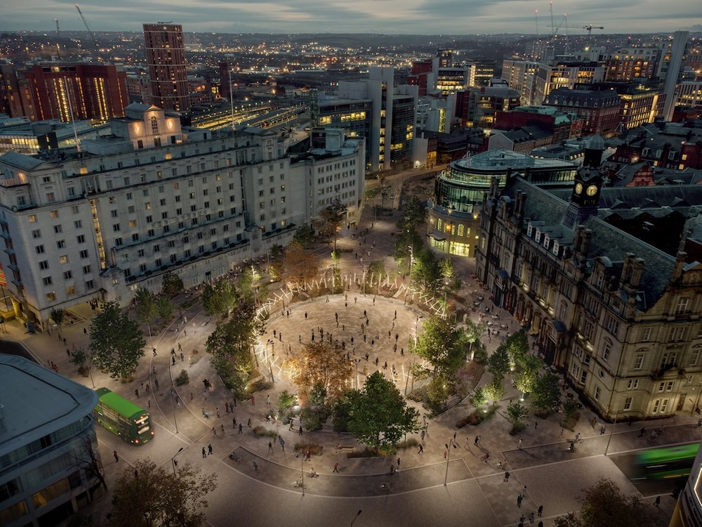 City Square in Leeds