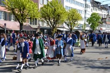 children in traditional swiss costume