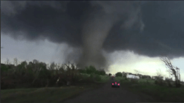tornado seen from road