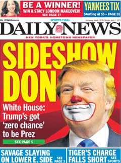 Image result for images of newspapers bashing trump
