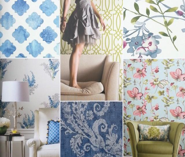 Interior Design Trends  Patterns Geometric Pastel Large Scale Patterns Florals