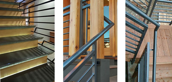 Lee Edwards Residential Design Modern Stair And Railing | Tubular Stair Railings Design | Simple | Grill Work | Residential Industrial Stair | Welded | Stair Case Railing