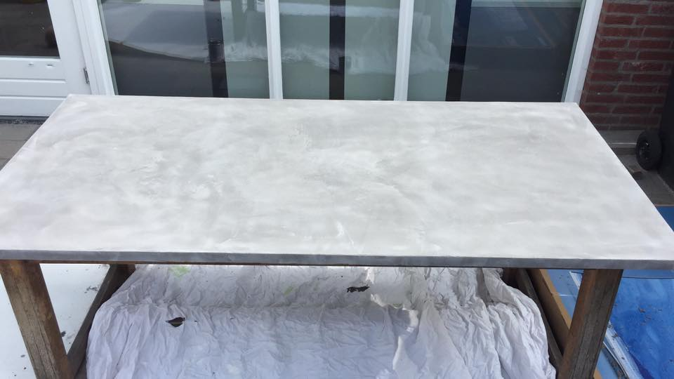 Betonlook tafel u2013 leef beton tafelblad leef beton