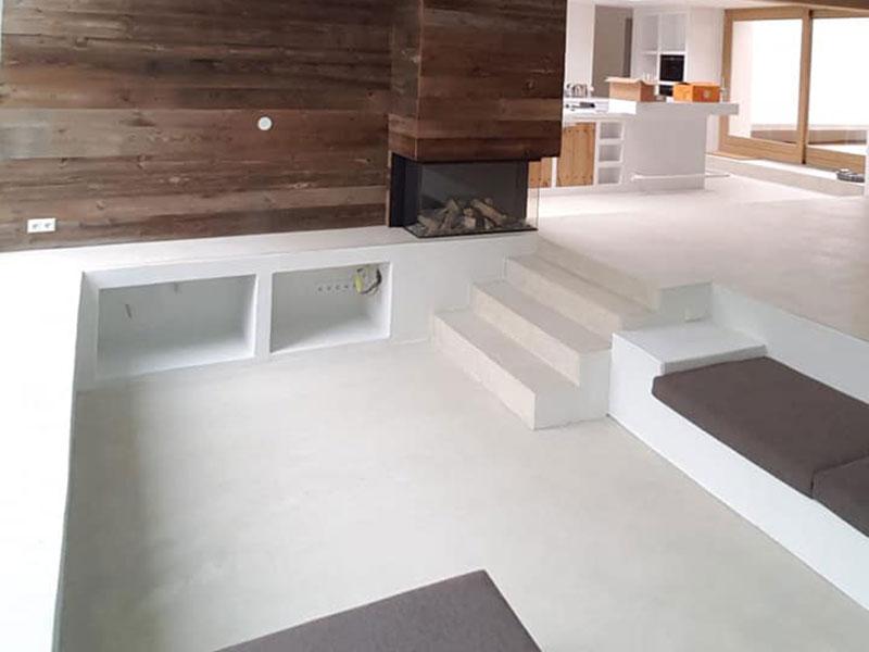 Betonlook vloer en wand roermond u leef beton muren en wanden
