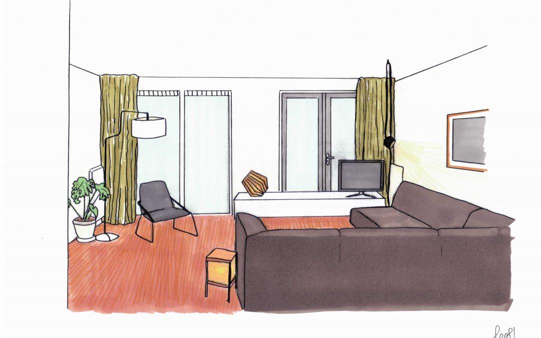 Lichtplan woonkamer Reitdiep  LEEF interieuradvies