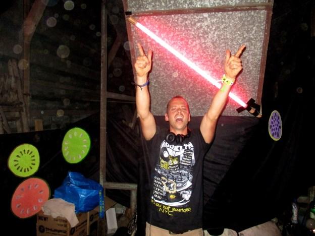 DJ Tom Jennings at Cock & Bull Festival
