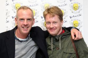 Fatboy Slim with Lee Gale at the Amex Stadium, Brighton
