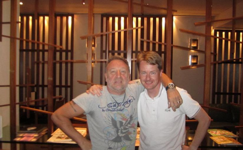 Peter Hook and Lee Gale