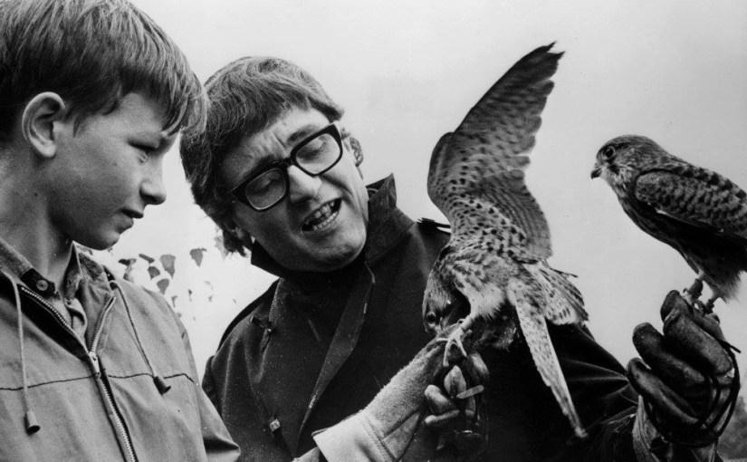 David Bradley and Tony Garnett on the set of Kes, 1968