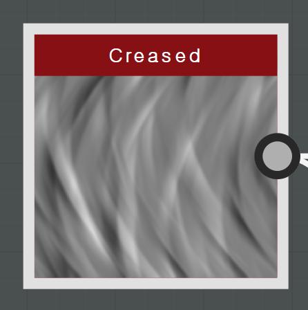 Creased