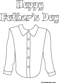 Father's Day Coloring Activity: Decorate a Shirt