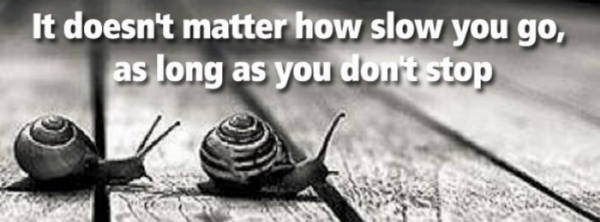 Image result for it doesn't matter how slowly you go