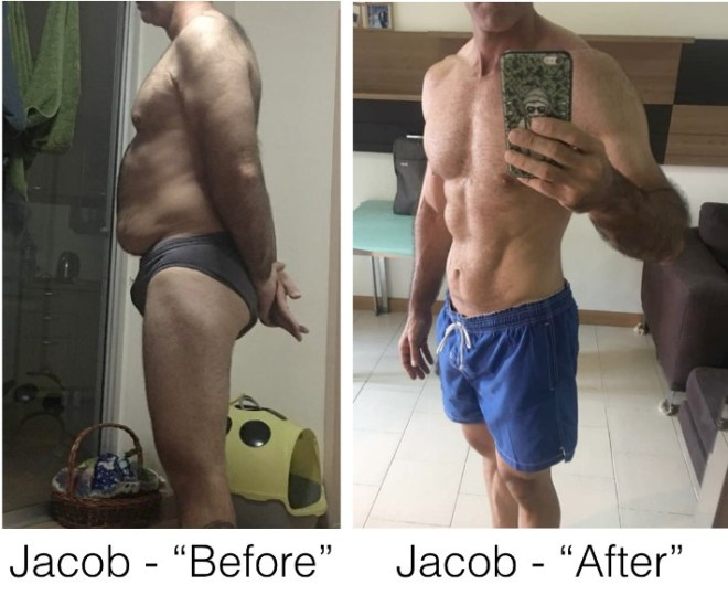 Jacob Before and After Losing 42 Pounds