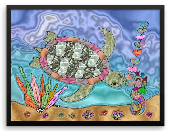 My Inspiration: The Sea Turtle and Seahorse Ocean Fantasy