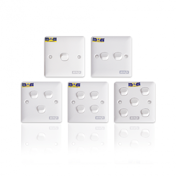 LEMAX Switches (1, 2, 3, 4, 5 Gang) SIRIM