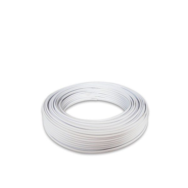 PVC Twin Flat Cable (White)