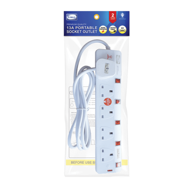 Extension Socket-ES-705N(SP) (2mtr) (Packaging)