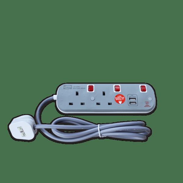 LEMAX USB Extension Socket (Grey) ES-312U