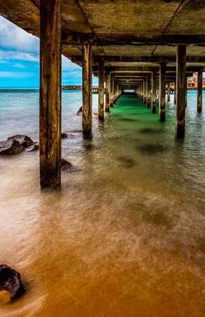 hawaii photography pier fine art vivid ocean water