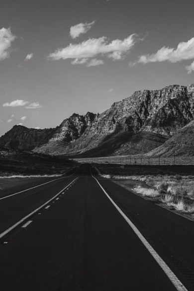 home art wall print black and white road image