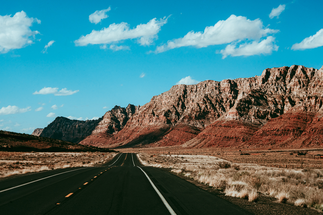 road to grand canyon travel art print