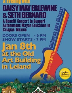 Music for Chiapas benefit with Seth Bernard and Daisy May Erlewine