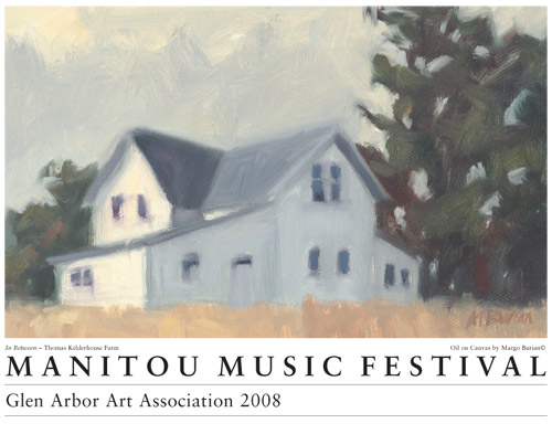 2008 Manitou Music Festival Poster by Margo Burian, Kelderhouse Farm
