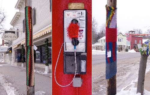 Photo Friday: Guerrilla Knitting comes to Suttons Bay
