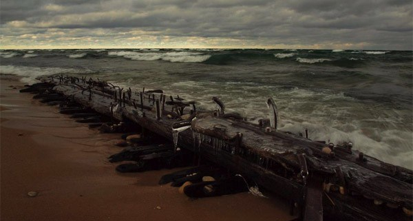 Wreck of the Jennie and Annie washes up on Sleeping Bear Point