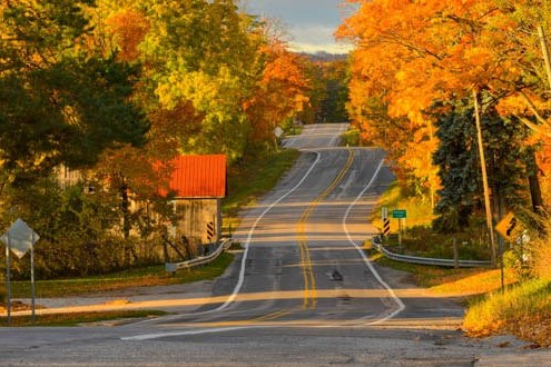 M-22: Best in the Nation for Fall Color Touring!