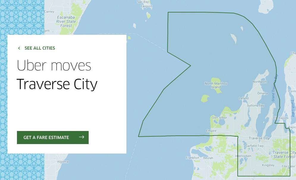 Uber Joins Lyft In Traverse City Area Leelanau Com