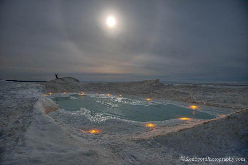 Lake Michigan Ice Light Time by Ken Scott Photography