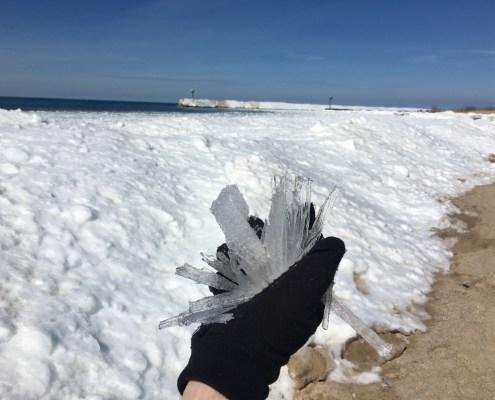 Candle Ice on Van's Beach