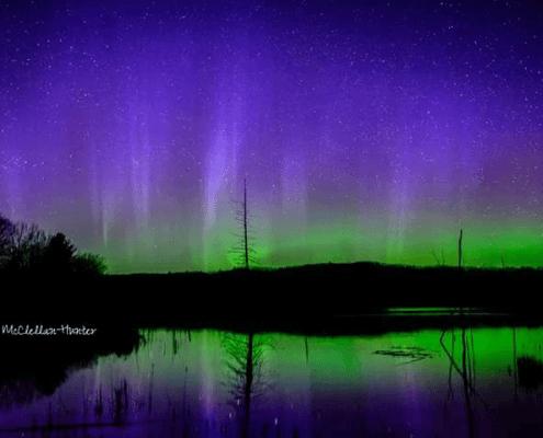 Northern Lights Over Sleeping Bear Dunes National Lakeshore